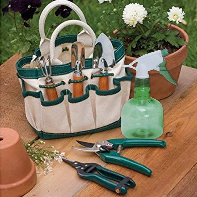 Indoor Gardening Tool Set (Green Plastic Spray Bottle)