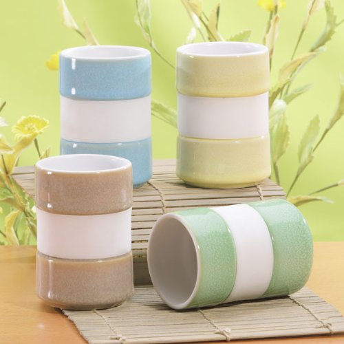 Silicone Band Tea Mugs (set of 4)