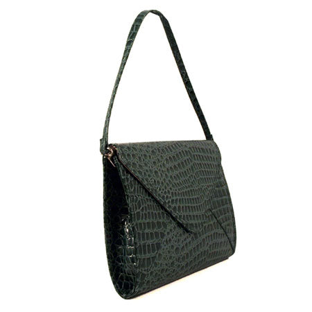 Green Patent Embossed Handbag