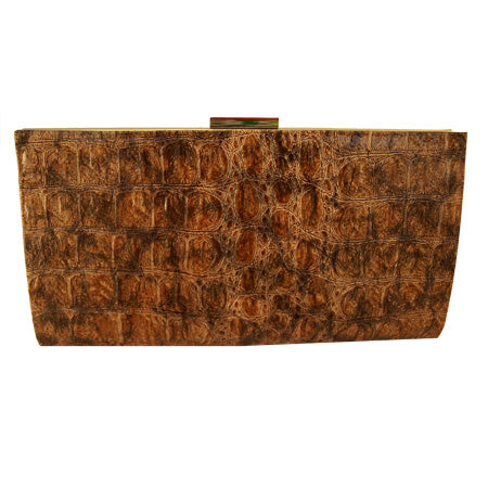Sienna Embossed Clutch