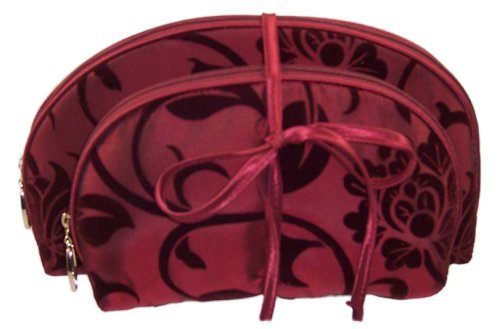 Danielle Plum Velvet 2-Piece Purse Set