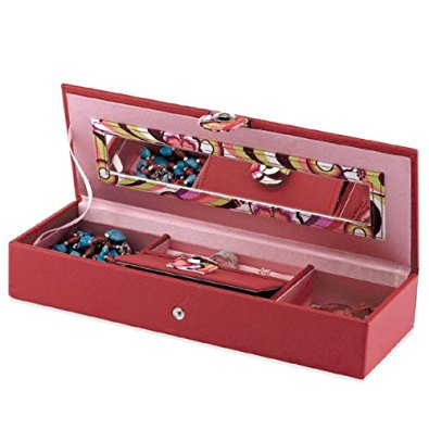 Snap Button Long Jewelry Box