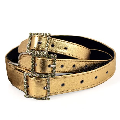Metallic Gold Rhinestone Dog Collar