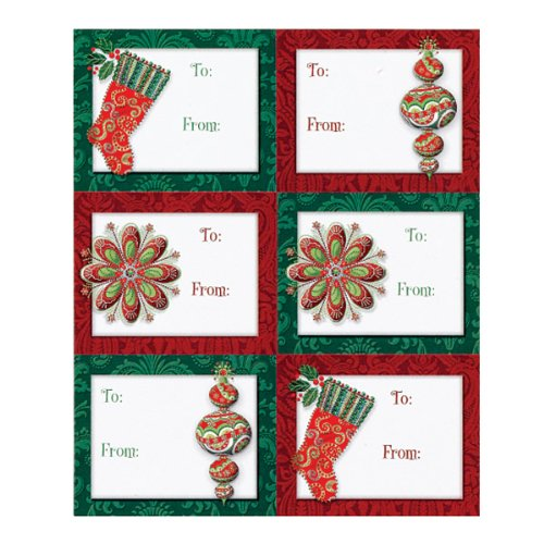 Holiday Adhesive Gift Tag Labels - Splendid Holiday