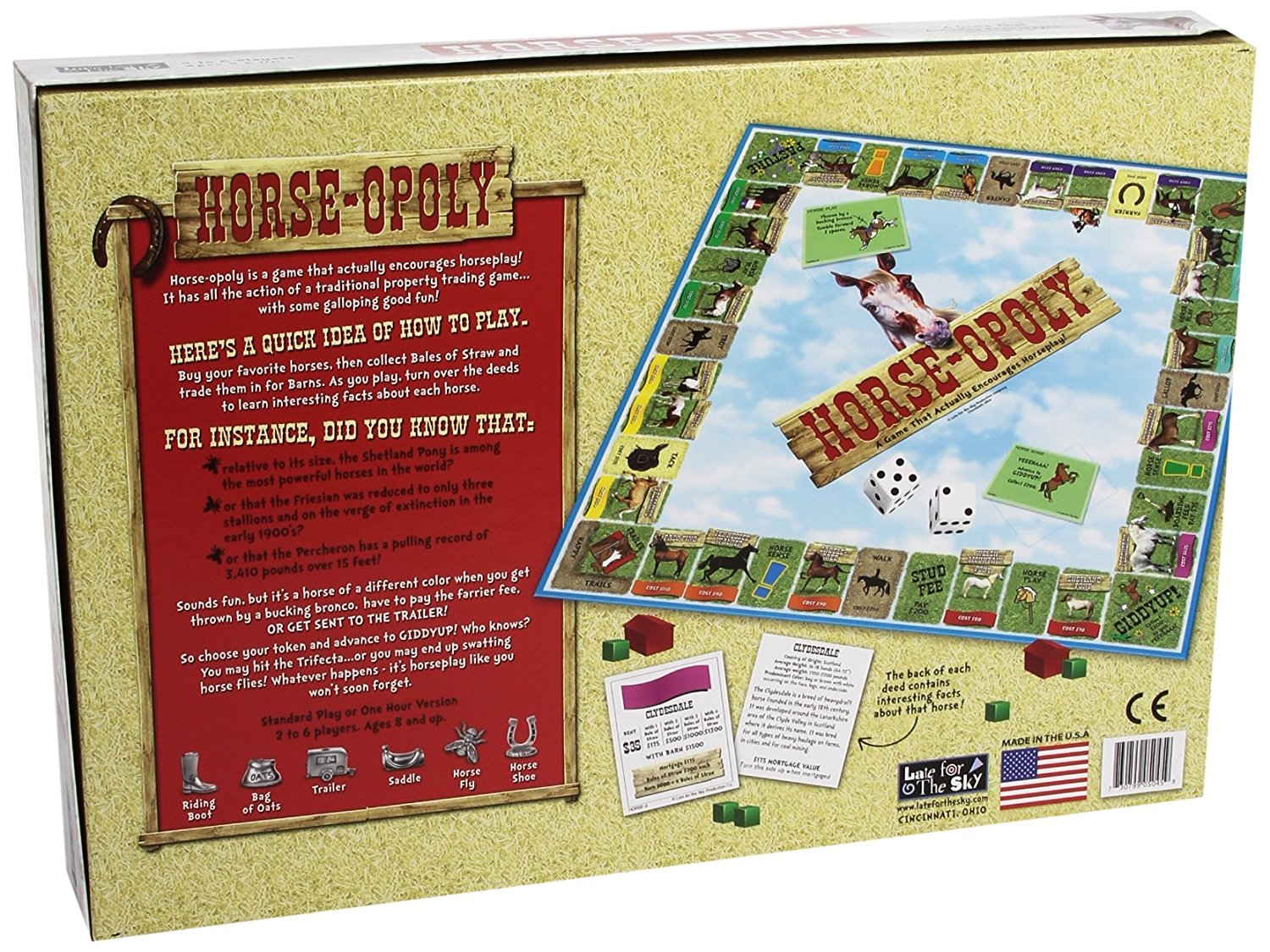 Horse-Opoly Monopoly Board Game