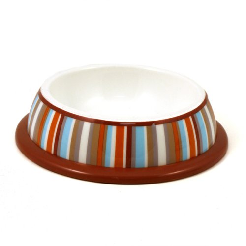University Stripe Non-Skid Pet Bowl