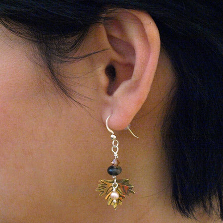 Maple Leaf French Hook Earrings