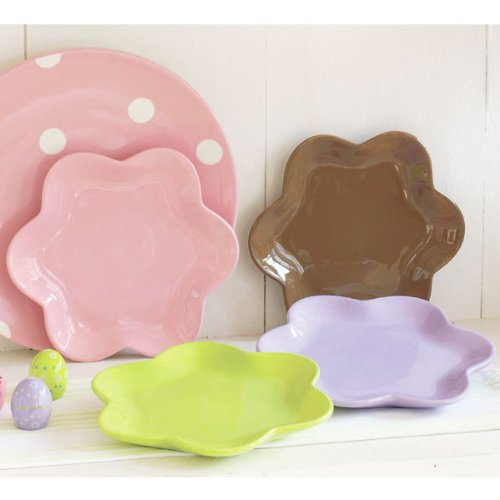 Flower-Shaped Appetizer Plates (set of 4)