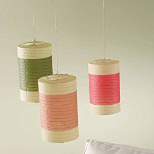 Rosebud Multicolor Stripe Paper Lanterns (set of 3)