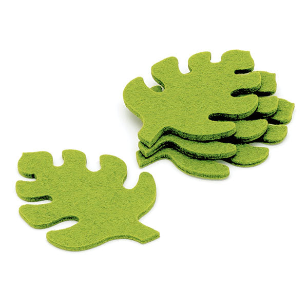 Leaf Cutout Coasters (set of 4) - Light Green