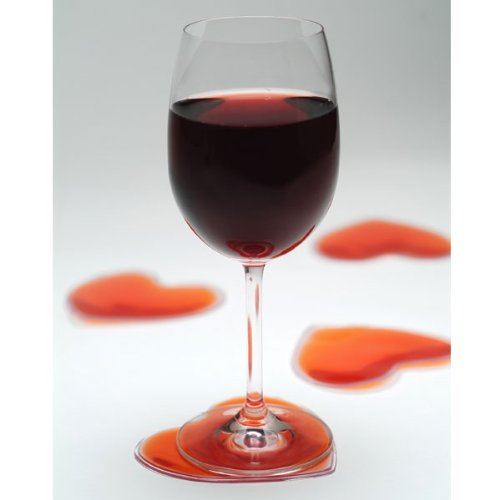 Heart Shaped Liquid Filled Coasters (set of 4)