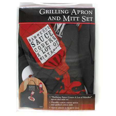 Barbecue Sauce Apron & Mitt Set