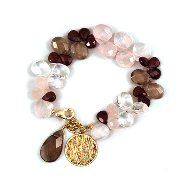 Rose Smoky Quartz Bracelet