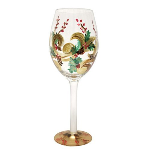 Holiday Berry White Wine Glass (16oz)