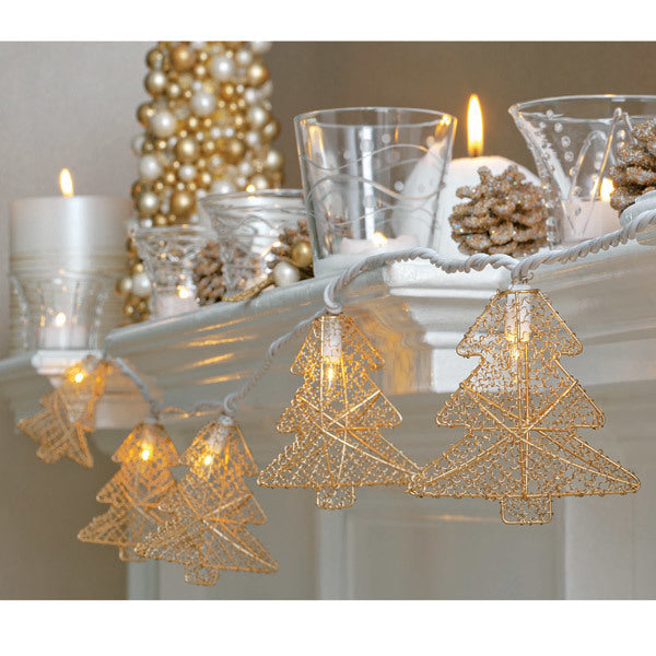 Wire Tree String Lights (set of 10)