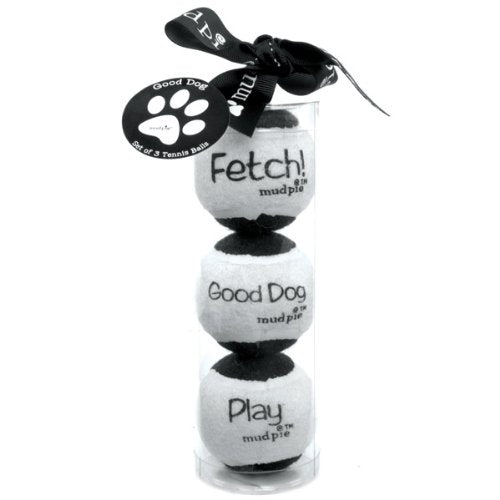 Tennis Ball Dog Toy Set - Good Dog