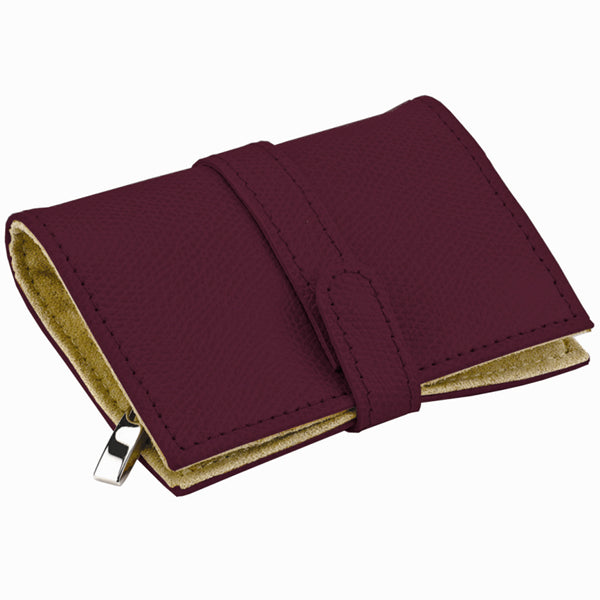 Queen's Court Mini Bordeaux Jewelry Roll