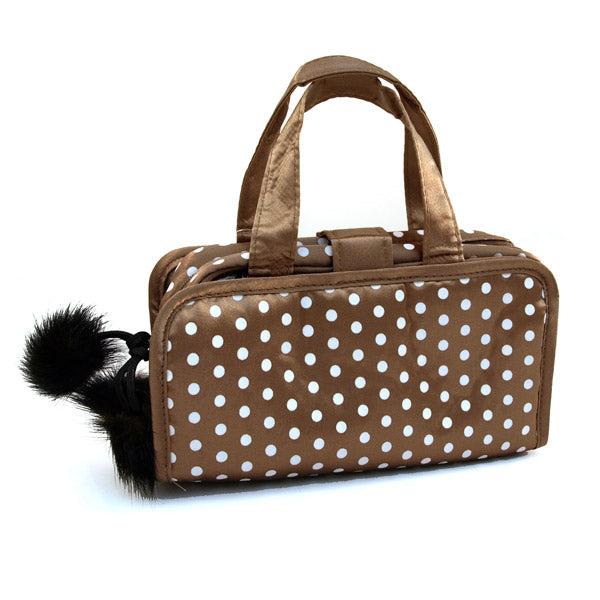 Polka Dot Travel Cosmetic Bag