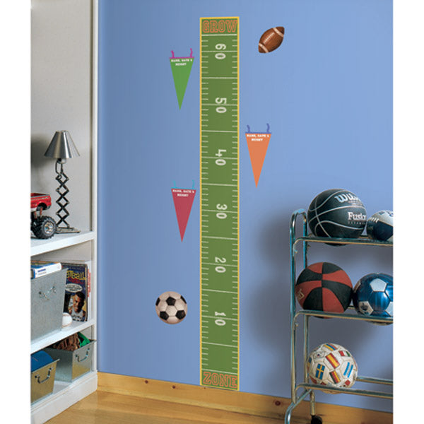 "Play Ball Wall Decal - Growth Chart (18""x40"")"
