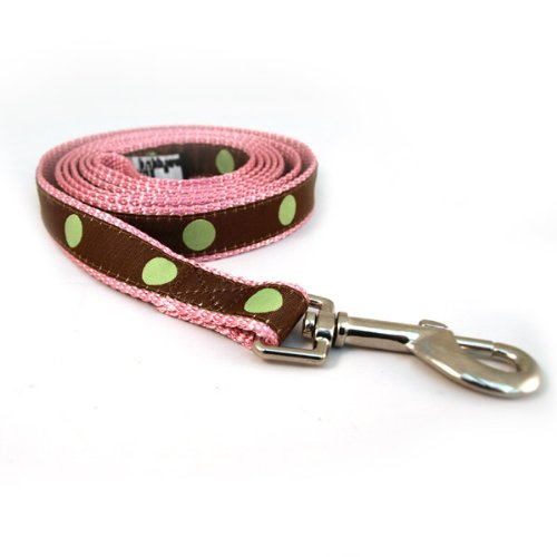Polka Dots Ribbon Dog Collar & Leash