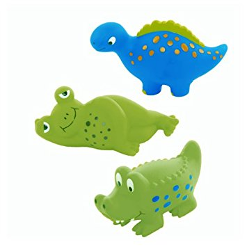 Animal Crackers Squirt Bathtub Toys (set of 3)