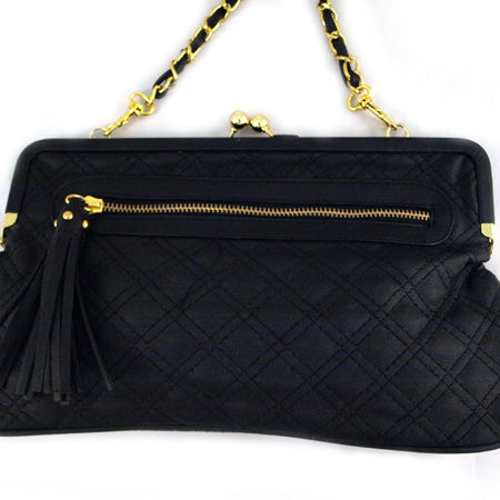 Cardiff Quilted Clutch - Black