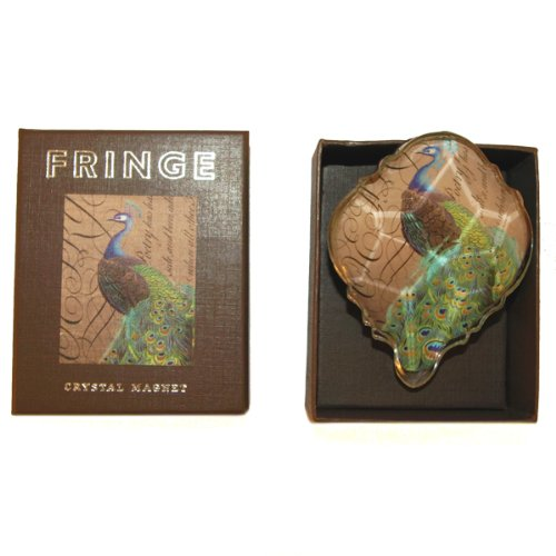 Fringe Crystal Glass Decoupage Magnet