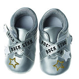 Rock Star Silver Baby Shoes
