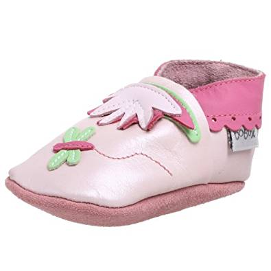 Bobux Pearl Pink Dragonfly Baby Shoes - M (9-15M)