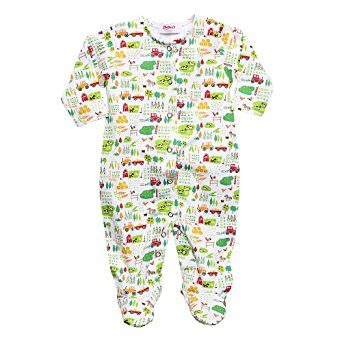 Zutano Farm Fresh Footie (0-6M)