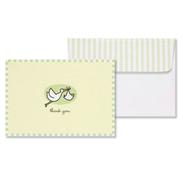 Baby Stork Thank You Note Cards