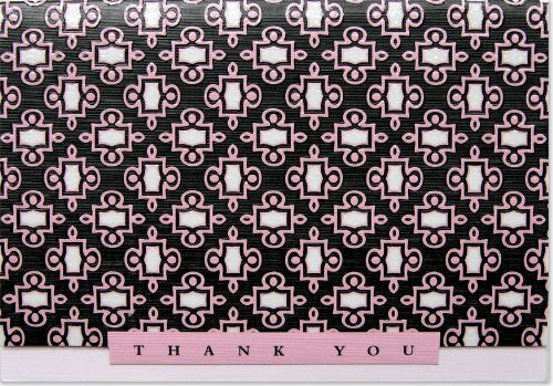 Pink Ascot Thank You Note Cards