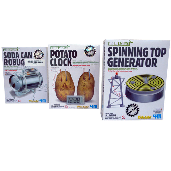 Green Science Experiments for Children (set of 3)