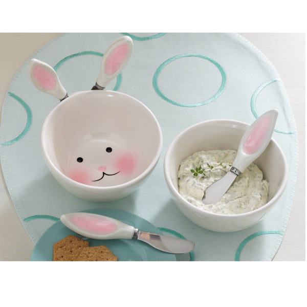 Bunny Dip Bowl & Spreaders Set