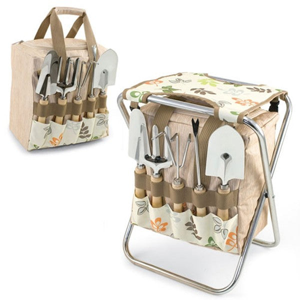 5pc. Gardening Tools with Folding Chair - Botanica