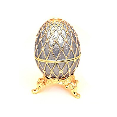 Jeweled Egg Trinket Box