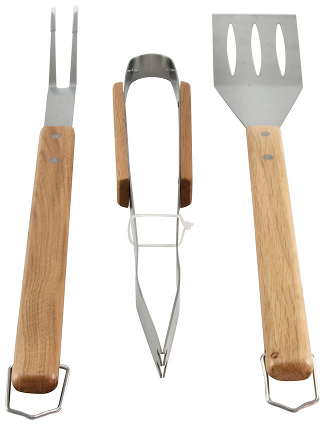 Oval Pro Chef 3pc BBQ Tool Set