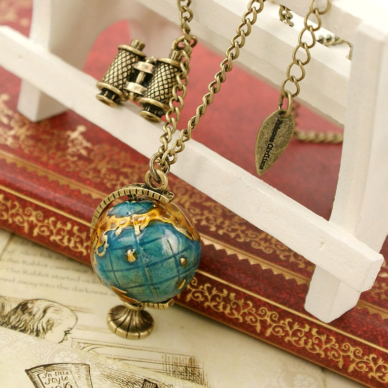 Princess Civilians Globe Pendant Necklace