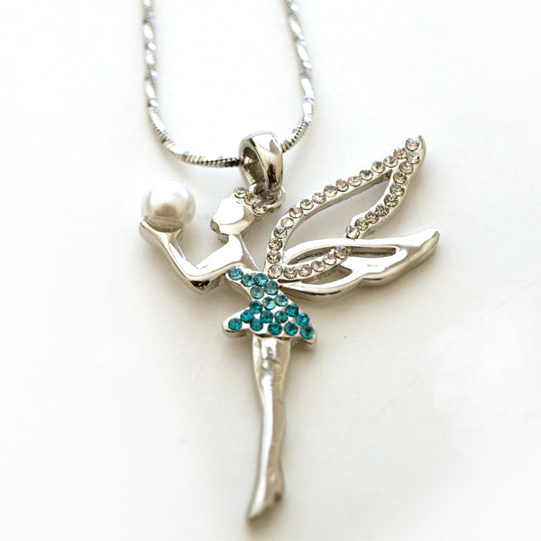 Rhinestone Fairy Necklace