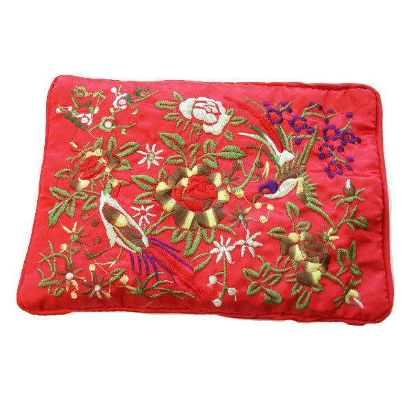 Silk Embroidered Brocade Jewelry Travel Organizer Rolls - 2