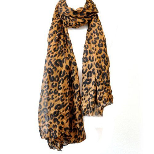 Louis Style Leopard Print Scarf (2 pack)