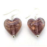 Glazed Heart Drop Earrings