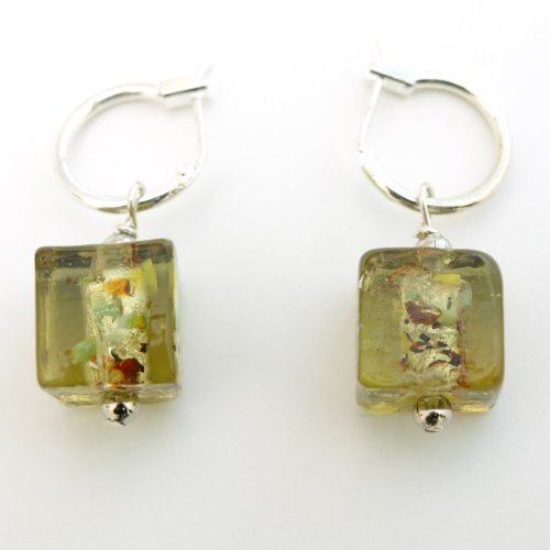 Cube Glaze Drop Earrings