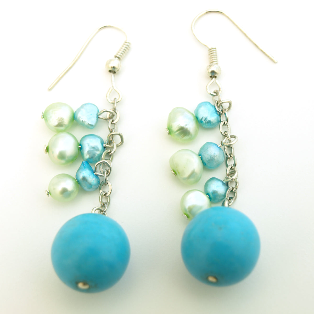 Sky Blue Dangle Earrings