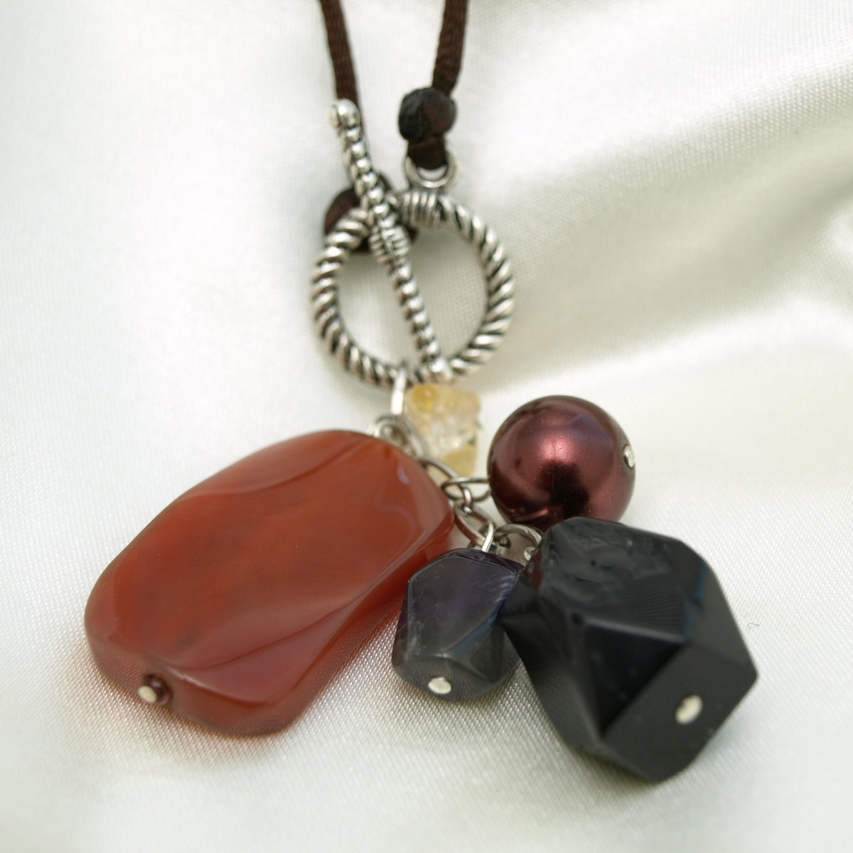 Gemstone Charm Pendant Necklace