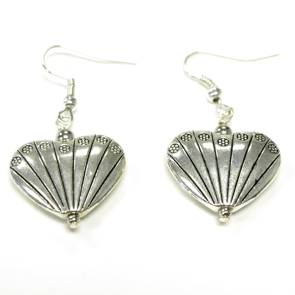 Silver Fan Your Heart Earrings