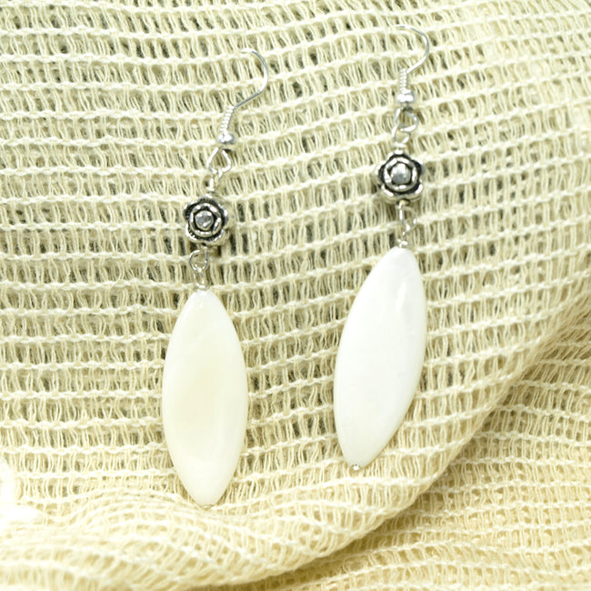 Almond Shaped Shell Earrings
