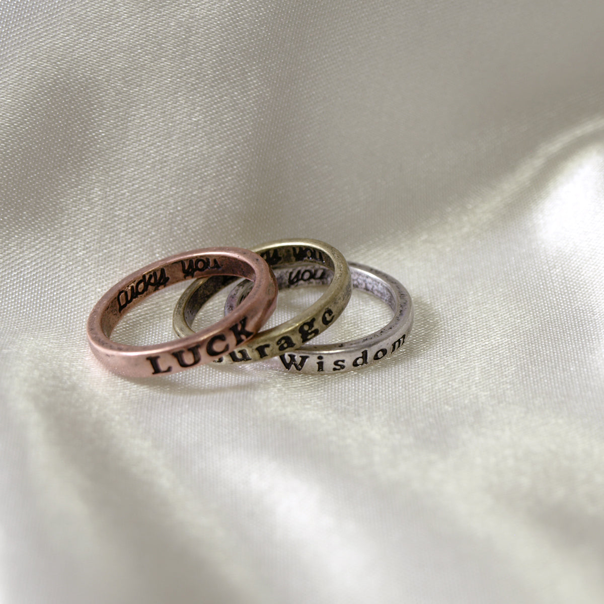 Inspirational Rings (Set of 3)