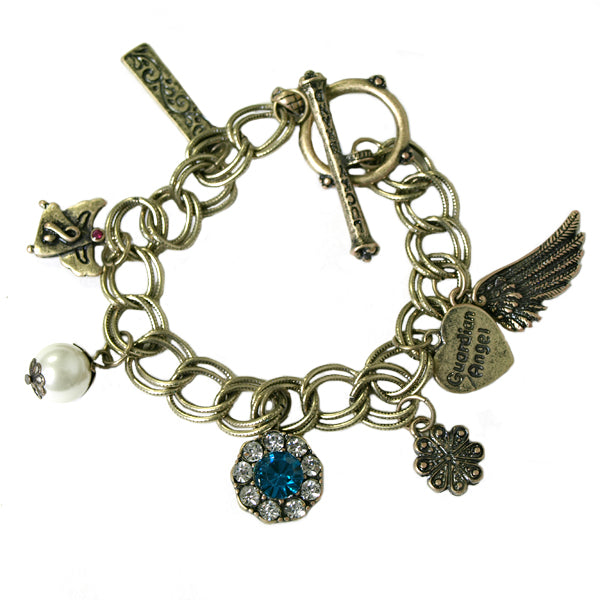 Vintage Guardian Angel Charm Bracelet