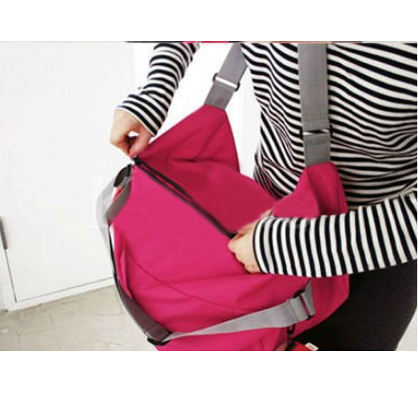 3-in-1 Compact Foldable Bag - Hot Pink